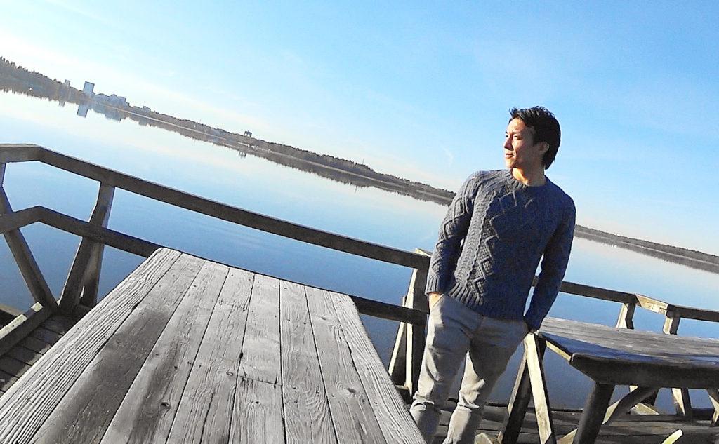 フィンランドの自然をこよなく愛す田中亜土夢選手