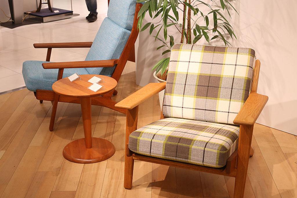 LifTe 北欧の暮らし 西武池袋本店 北欧マルシェ 2018「ヴィンテージ家具とテキスタイルフェア」 ウェグナー イージーチェア