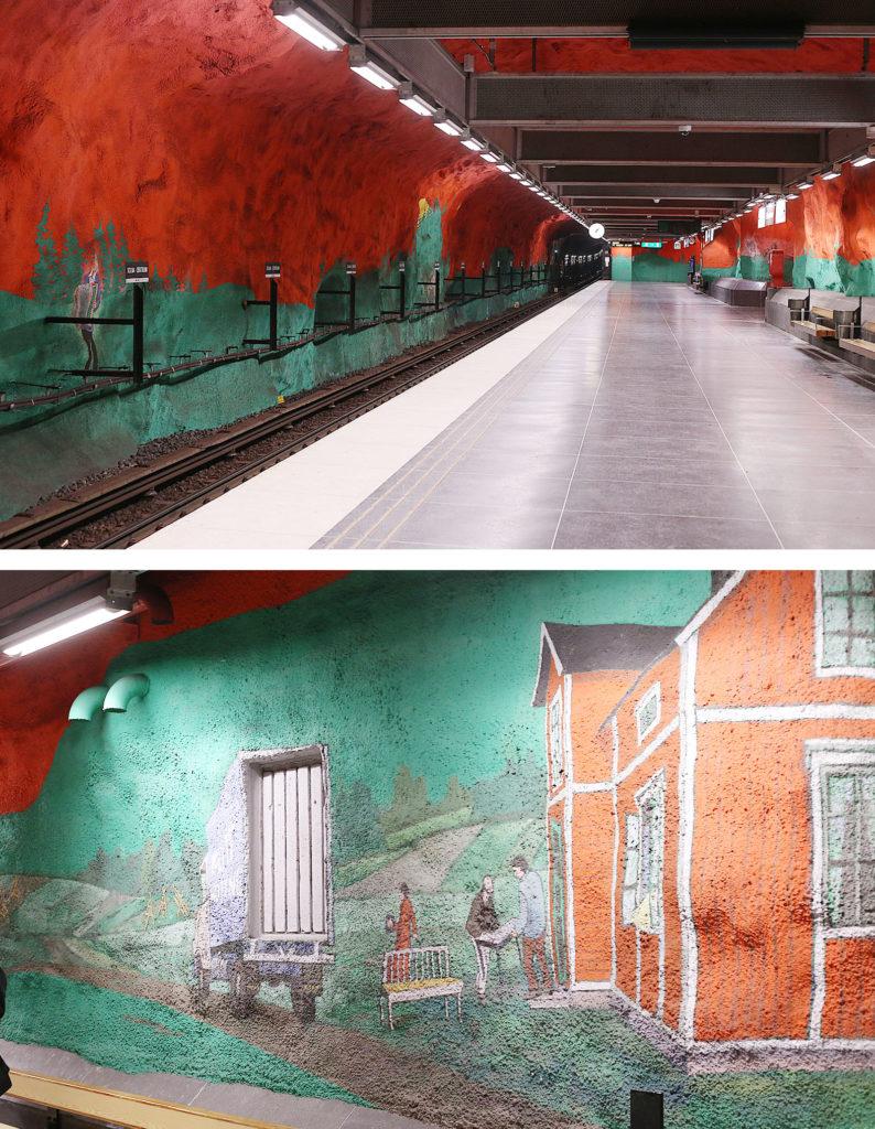 LifTe 北欧の暮らし Solna centrum station ストックホルム スウェーデン 地下鉄