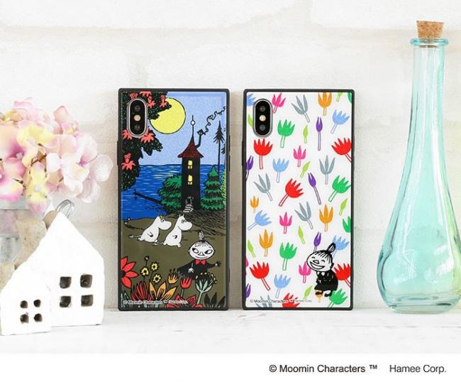 LifTe 北欧の暮らし ムーミン iphoneケース グリッター hamee ムーミンハウス/海辺 リトルミイ/花柄