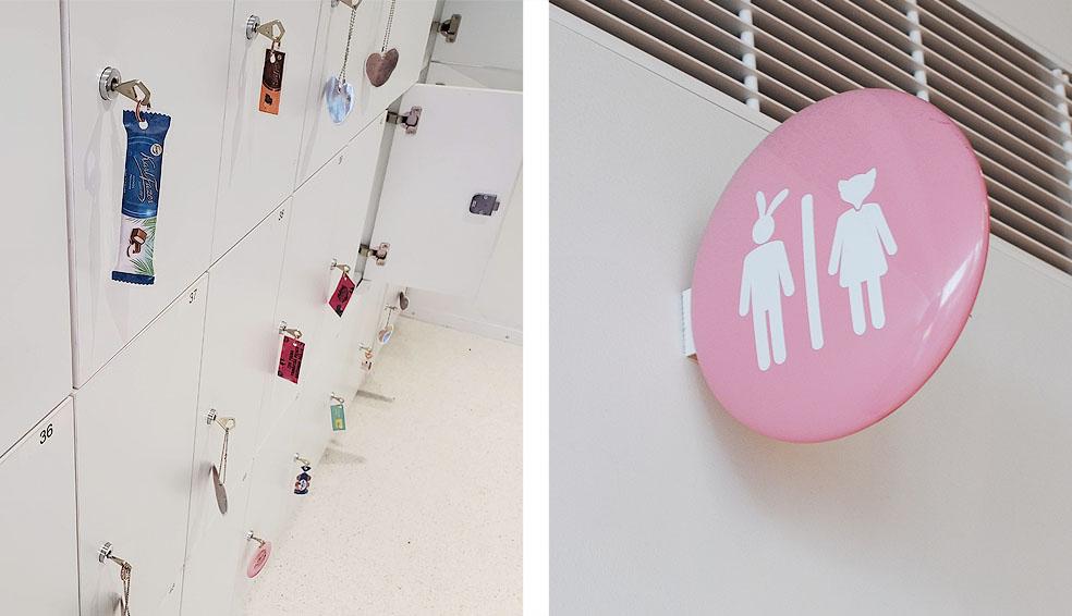 LifTe 北欧の暮らし Fazer experience visitor center ファッツエル エクスペリエンス ビジターセンター fazer cafe ロッカー トイレ標識
