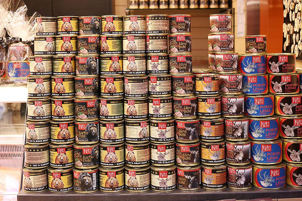 LifTe 北欧の暮らし 現地レポート 5日目 旅日記 ヘルシンキ オールドマーケット フィンランド 缶詰 トナカイ クマ 鹿