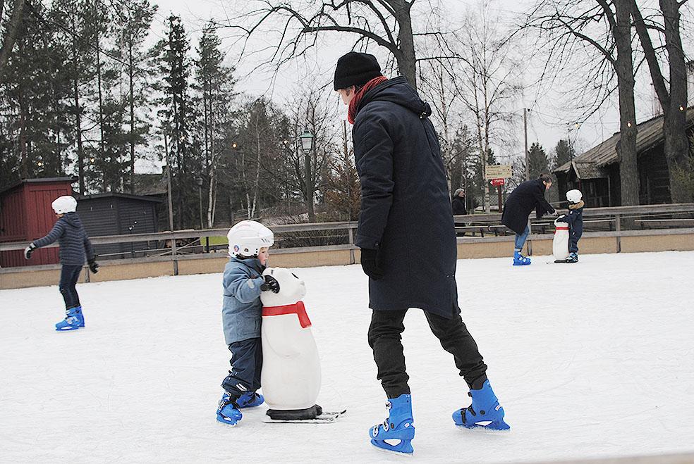 LifTe 北欧の暮らし スウェーデン ストックホルム スカンセン アイススケート 子供