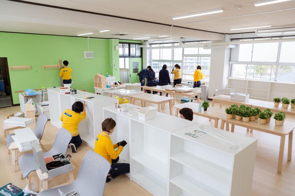 LifTe 北欧の暮らし IKEA イケア 足立区立亀田小学校 図書館改装 新三郷