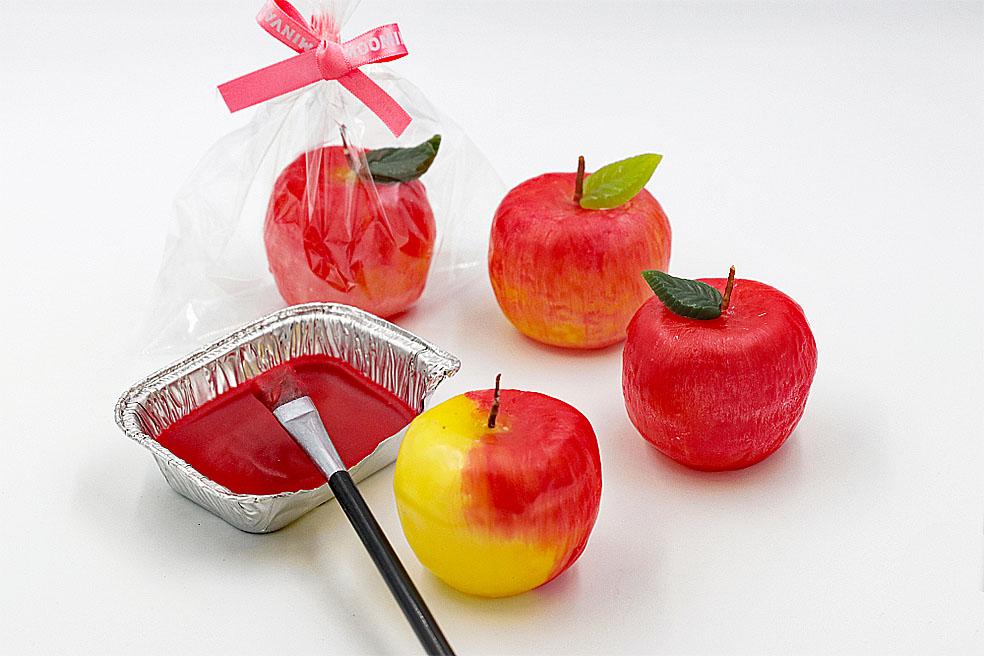 LifTe 北欧の暮らし ムーミンバレーパーク ワークショップウィークエンド りんごのキャンドル