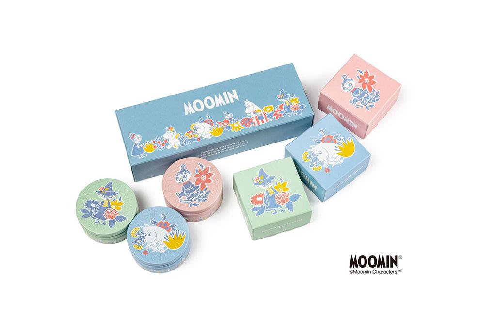 LifTe 北欧の暮らし フィンランド ムーミン スチームクリーム STEAMCREAM MOOMIN design mini set -FLOWERS-