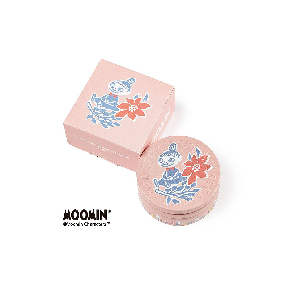 LifTe 北欧の暮らし フィンランド ムーミン スチームクリーム STEAMCREAM MOOMIN design mini set -FLOWERS- LITTLE-MY WITH FLOWERS mini(30g)