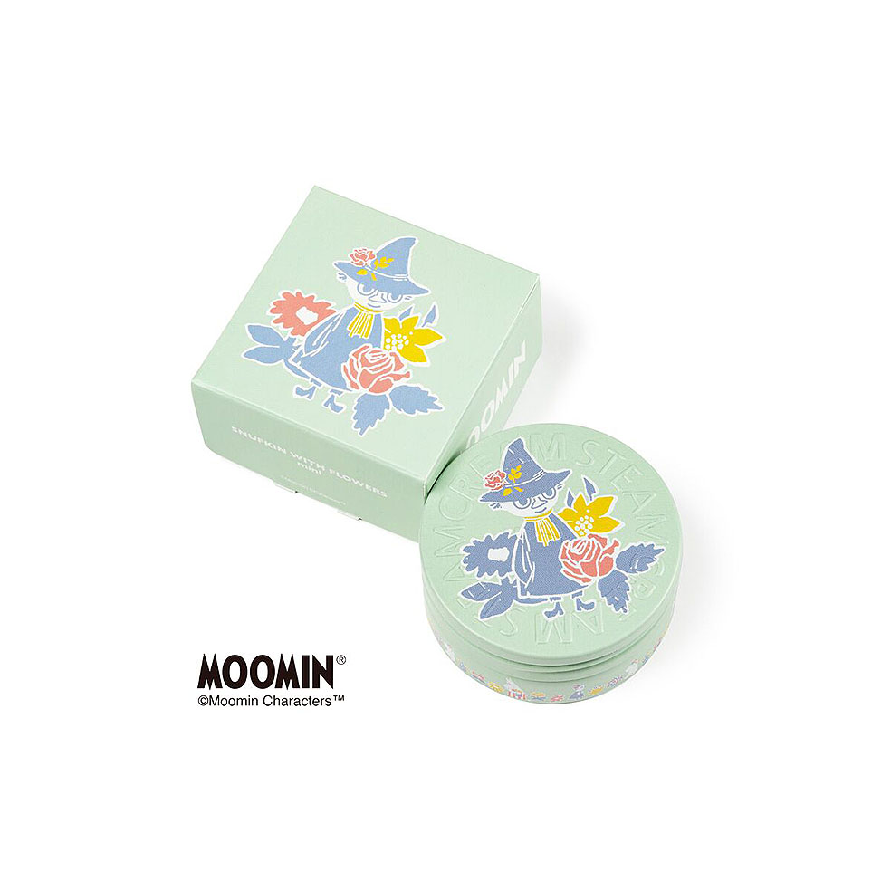 LifTe 北欧の暮らし フィンランド ムーミン スチームクリーム  STEAMCREAM MOOMIN design mini set -FLOWERS- SNUFKIN WITH FLOWERS mini(30g)