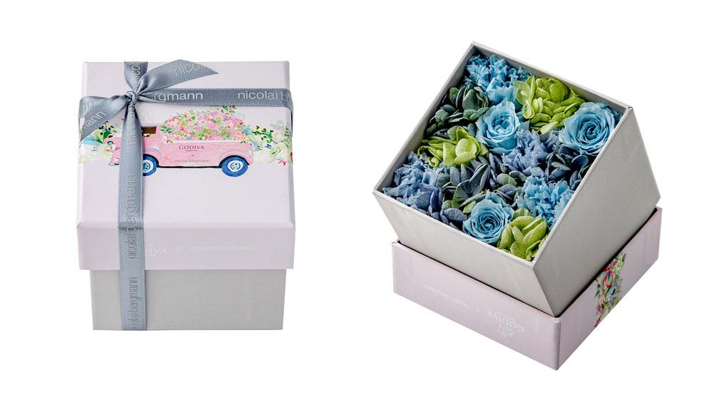 LifTe 北欧の暮らし ニコライバーグマン ゴディバ バレンタインデー プリザーブドフラワーボックス