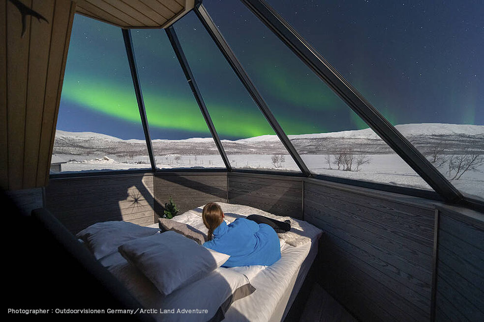 LifTe 北欧の暮らし visitfinland オススメ フィンランド ホテル フィンランド政府観光局 Arctic Land Adventure Glass Igloo アークティック・ランド・アドベンチャー・ガラス・イグルー