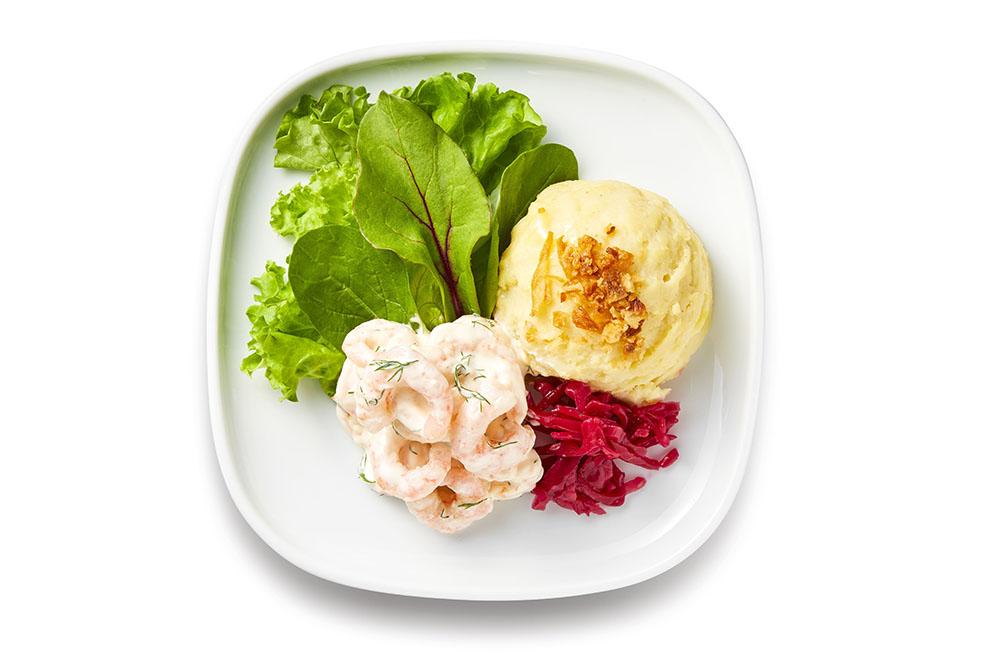 LifTe 北欧の暮らし スウェーデン イケア スウェーデン伝統料理 北欧料理 フェア もっと北欧フード スコーゲンとマッシュポテトのサラダ