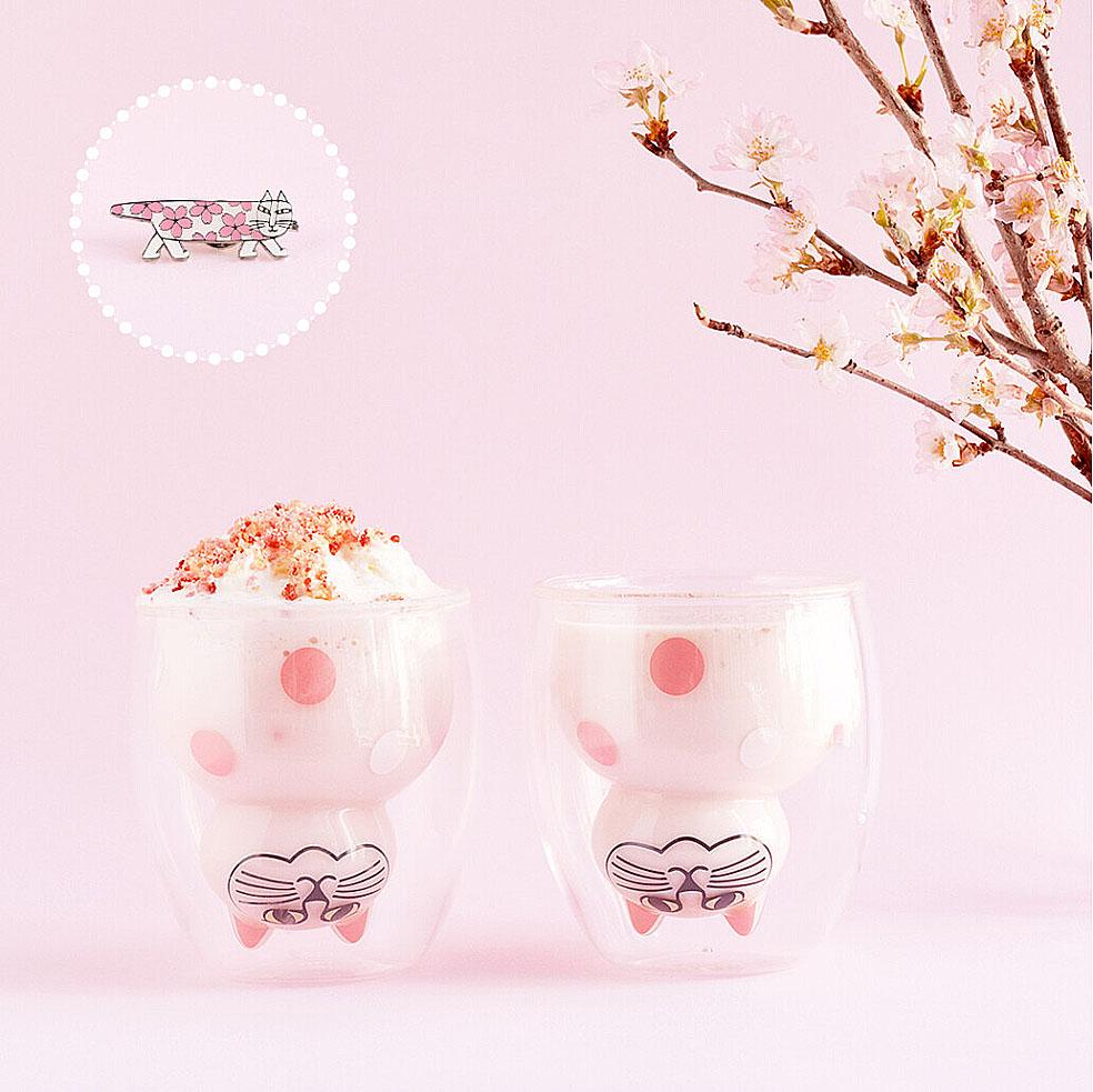 LifTe 北欧の暮らし スウェーデン リサ・ラーソン 桜 トンカチ グッドグラスと桜のセット