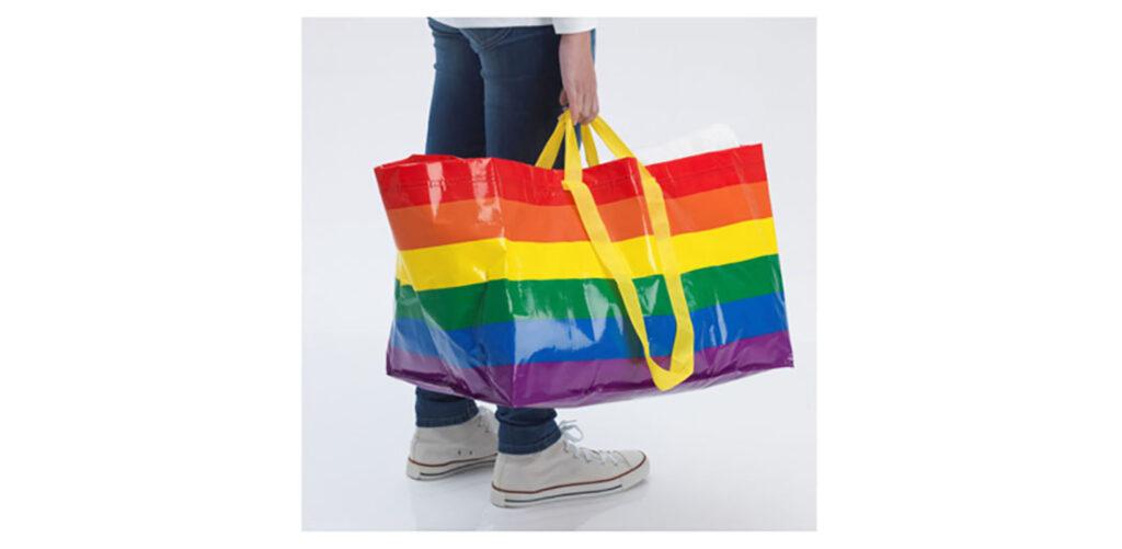 LifTe 北欧の暮らし スウェーデン イケア IKEA LGBT+ レインボー レインボーカラー STORSTOMMA ストールストッマ バッグ