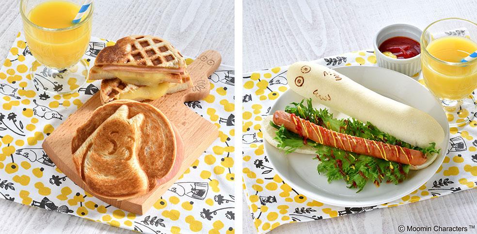 LifTe 北欧の暮らし ムーミンカフェ ラクーア 東京ドームシティ 朝食 ムーミンお尻パン ニョロニョロコッペ