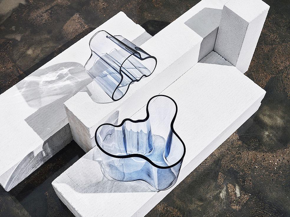 LifTe 北欧の暮らし フィンランド イッタラ リサイクルガラス コレクション アアルト アアルトベース
