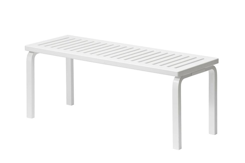 Lifte 北欧の暮らし 無印良品 artek アルテック フィンランド これからもつづくデザイン 153A ベンチ (ホワイト)